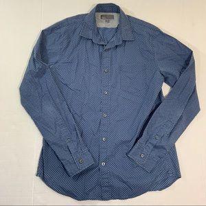 Men's Vince Button Front Dress Shirt M